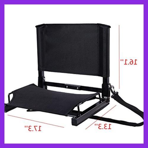 Stadium Seat W Cushion Folding Portable Shou
