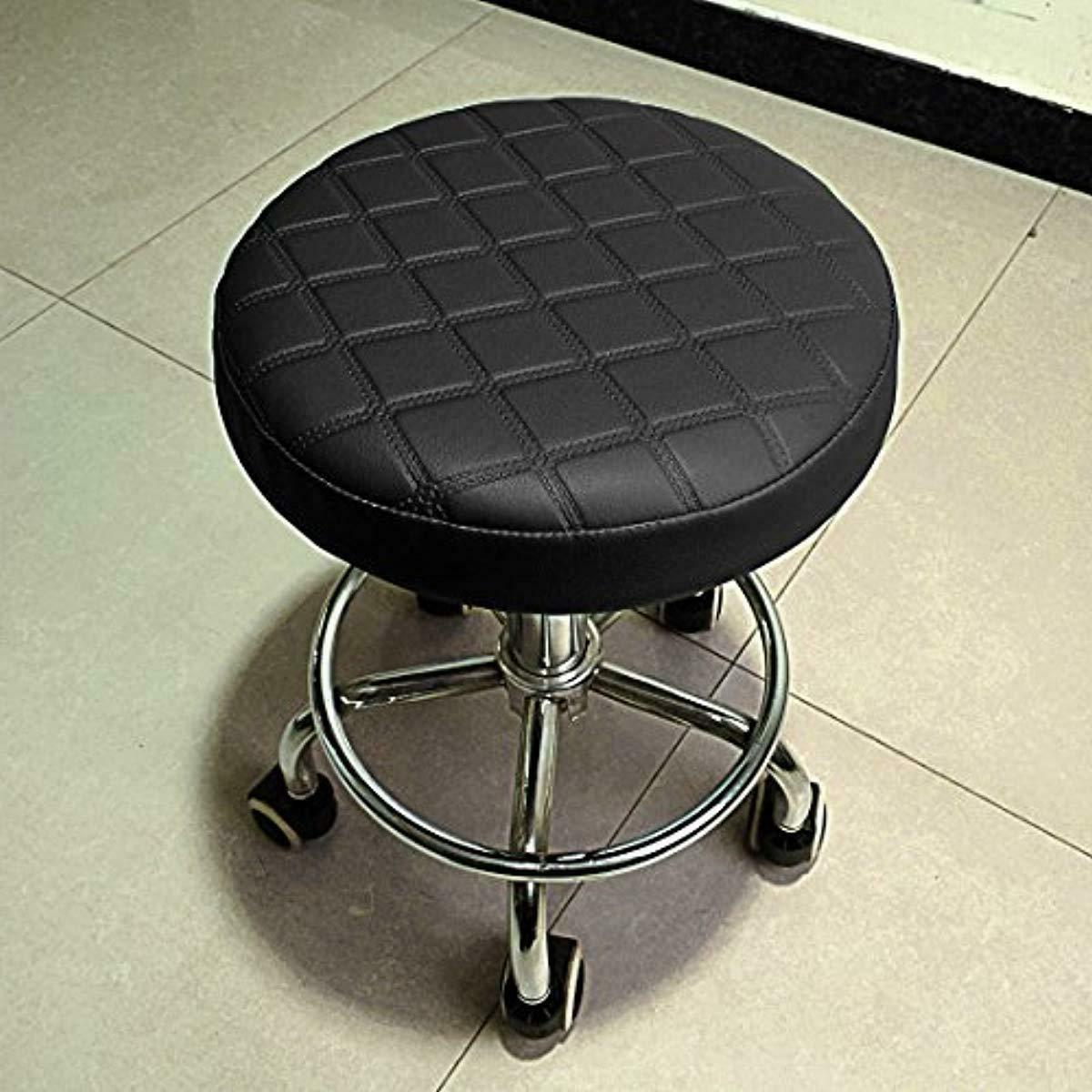 Stool Cover Leather Round Kitchen Coffe Shop Cushion