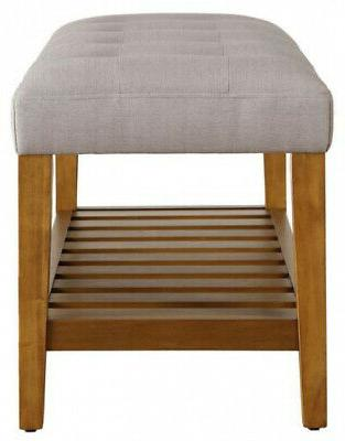 ACME Furniture Storage Seat Rack Entryway Wood