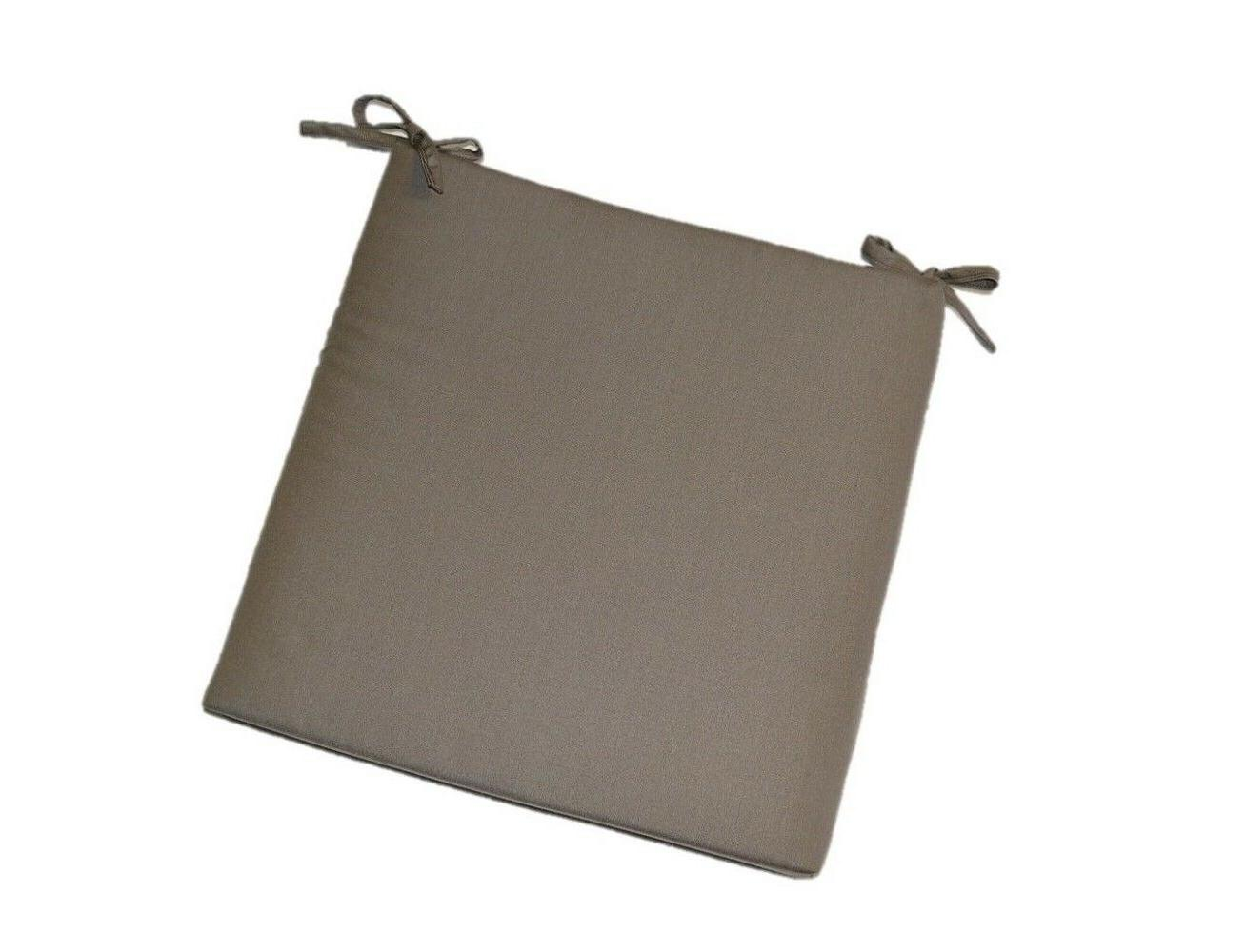 "Sunbrella Canvas Taupe 2"" Foam Seat Cushion w/ Ties - Choose"