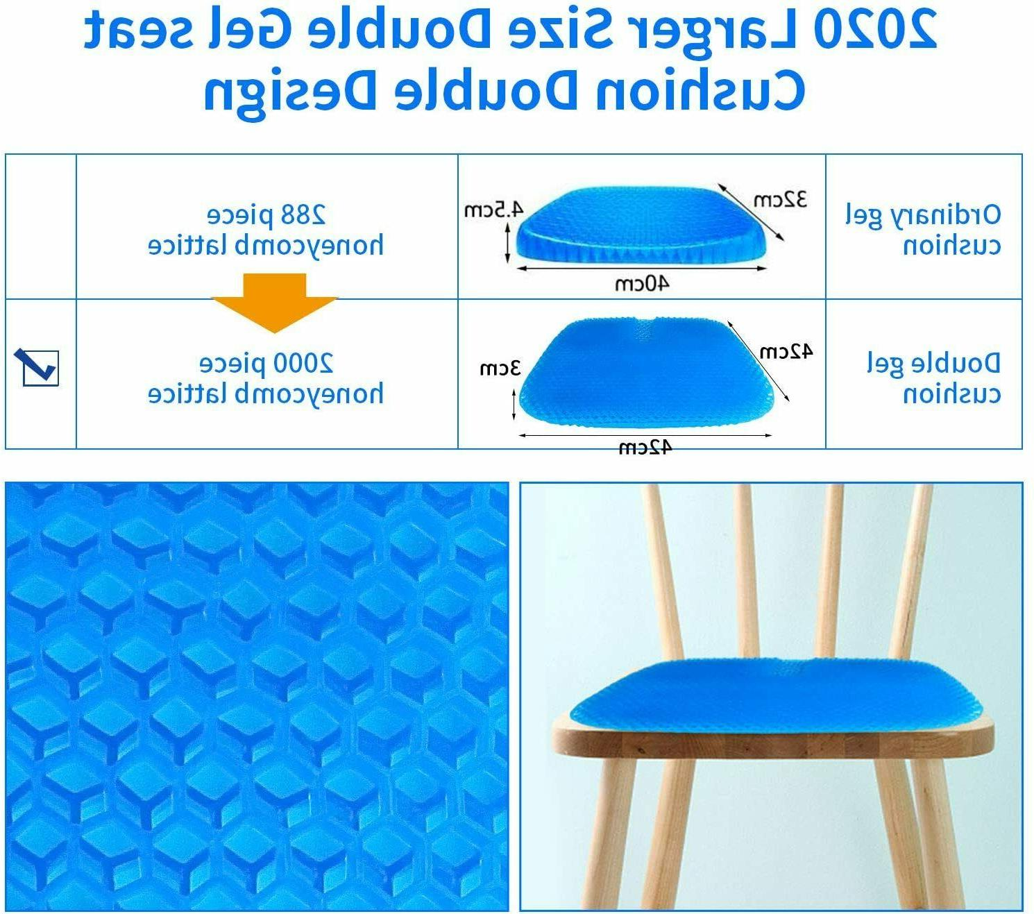 Super Breathable Gel Upgraded Seat Cushion Relief Pain