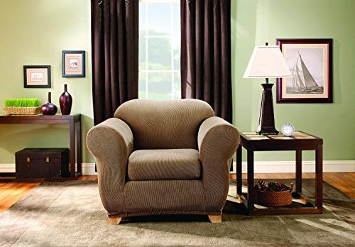 Sure Separate Chair Slipcover, Brown