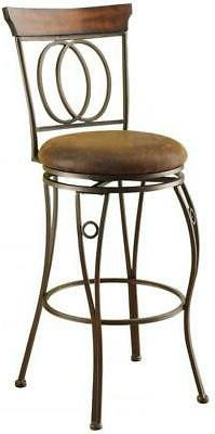 Swivel Cushioned Bar Stool Round Seat Durable Bronze 2