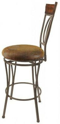 Swivel Stool Round Seat Durable Bronze Industrial 2