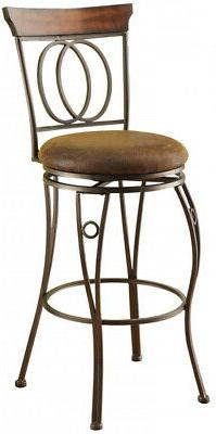 swivel cushioned bar stool round seat durable