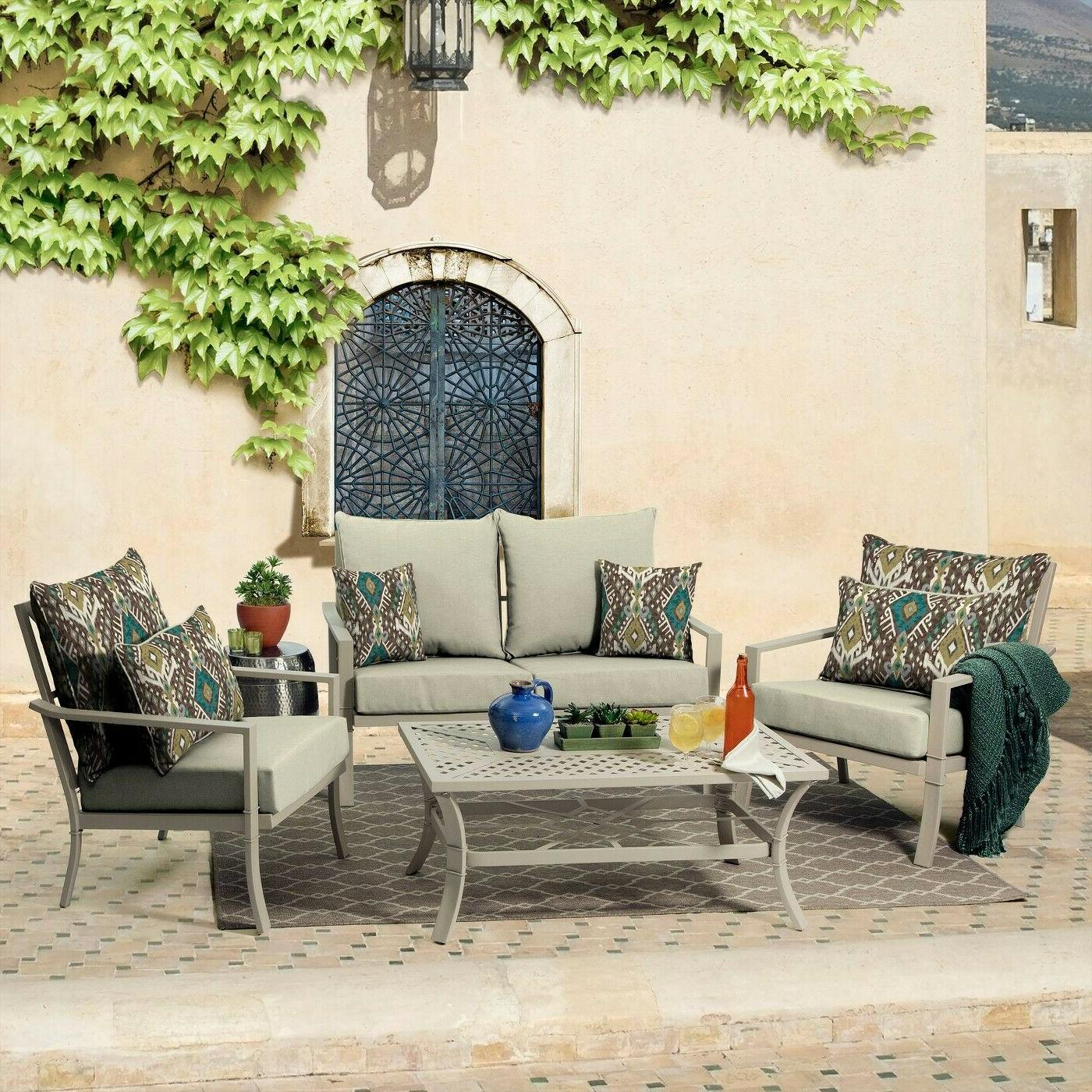 Outdoor Seat Patio Set Pad Resistant Furniture