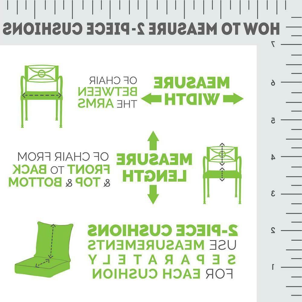 Outdoor Deep Seat Patio Pad UV Porch Furniture