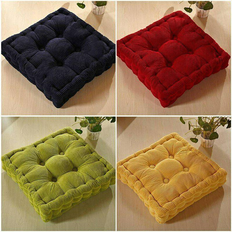 thick corduroy soft square cushion floor chair