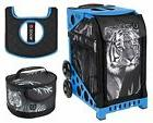 Zuca Tiger Sport Insert Bag and Blue Frame, Gift Lunchbox, S