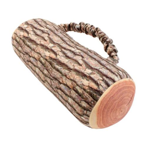 Pillow Cushion Soft Wood Log Decor Support Throw Headrest
