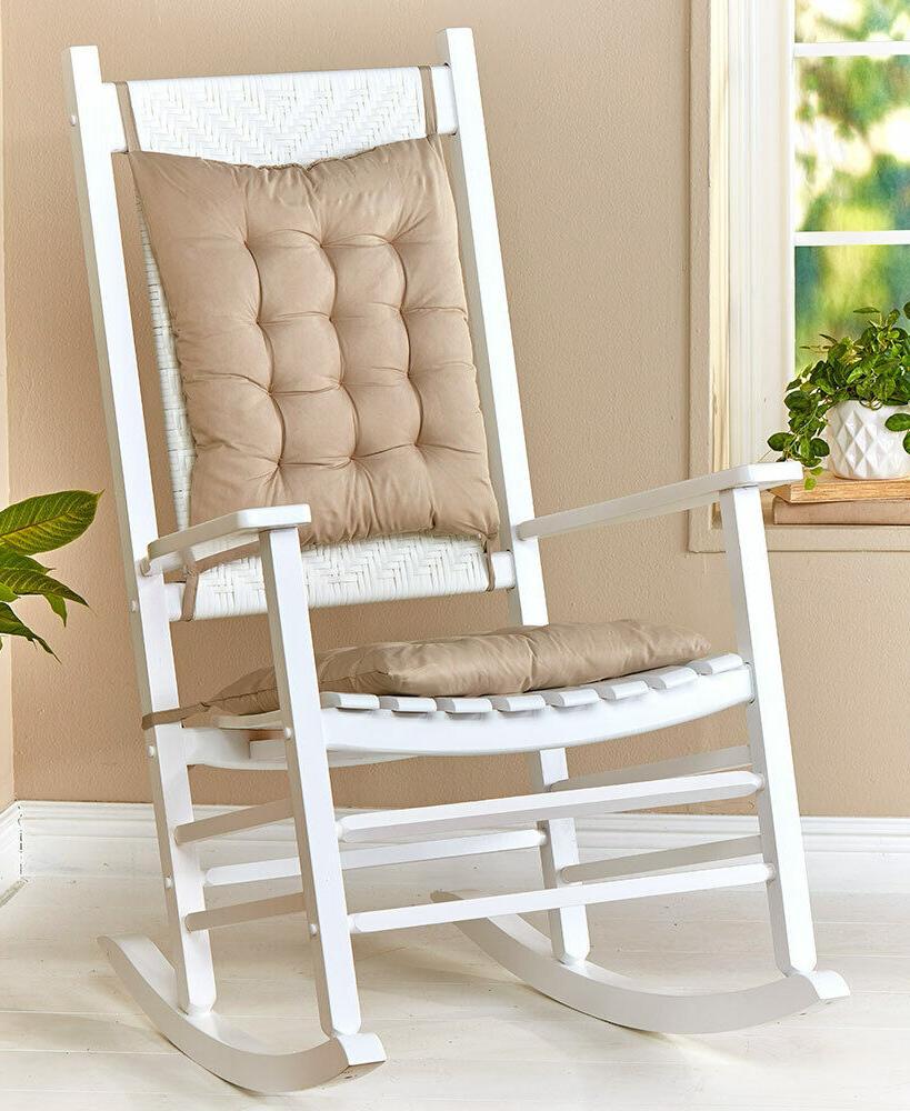 two piece sand beige rocker rocking chair