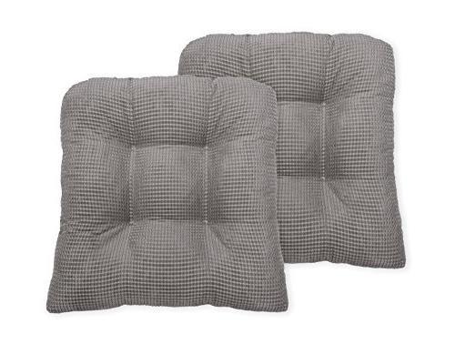 Arlee Seat Cushion, Two Chair Pad, Gray,