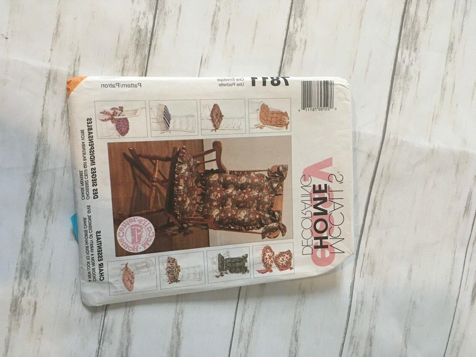 uncut mccalls easy home decorating sewing pattern