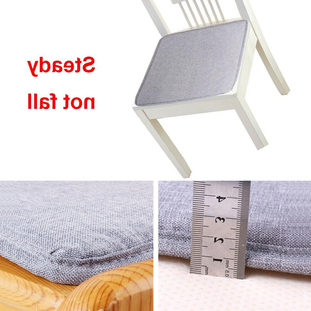 Removable Chair Cushion Seat Pads Tie On Chair Soft Dining Decor Mat