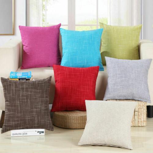 vintage plain cotton throw pillow cases seat