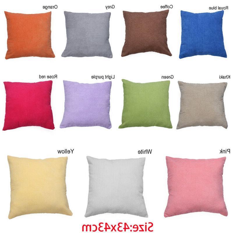 Sofa Winter Corn velvet Throw Pillow Cover