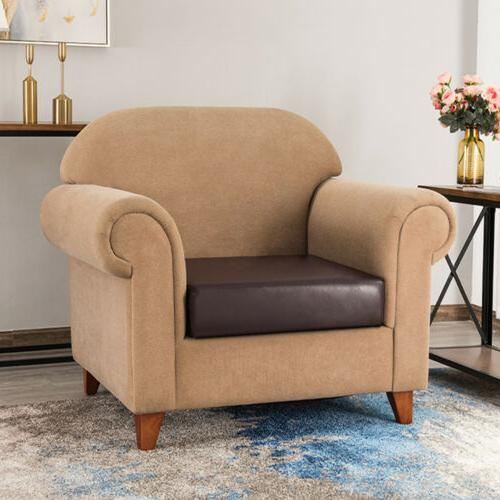 Faux Leather Stretchy Seat Couch Slipcovers