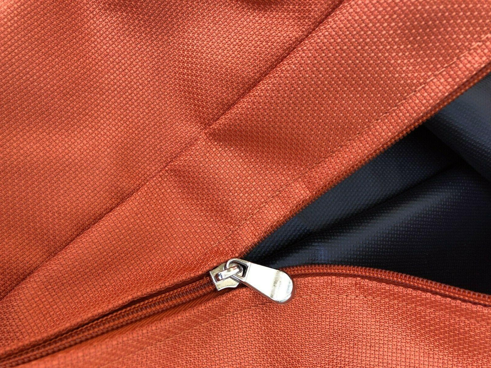 "Waterproof Deep Chair Patio Cushions Zipper Cover 24""X22""X4"""