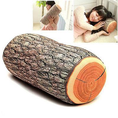 wood shape soft car seat throw pillow