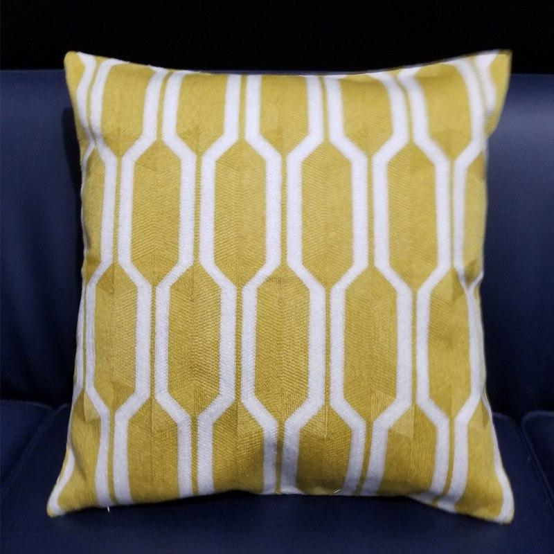 Yellow Geometric Cover 45x45cm decorative cases for Couch