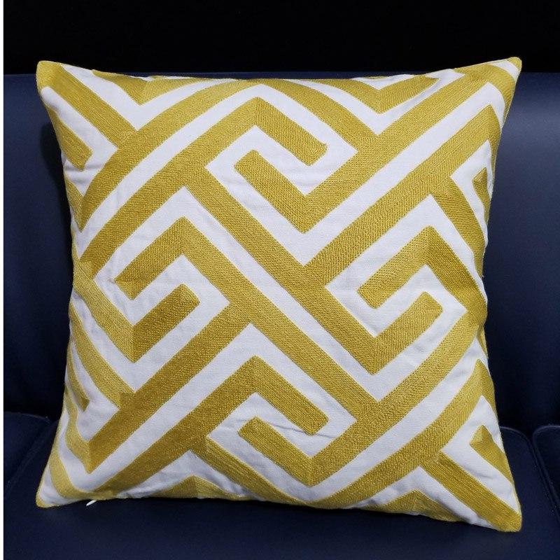 Yellow <font><b>Cushion</b></font> Cover 45x45cm decorative pillow for Couch