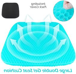 Large Double Gel Seat Cushion Honeycomb Design Coccyx and Lo