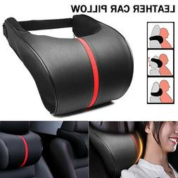 Leather Car Seat Neck Pillow Auto Memory Foam Headrest Trave