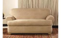 Surefit Stretch Leather Separate Seat Loveseat Slipcover