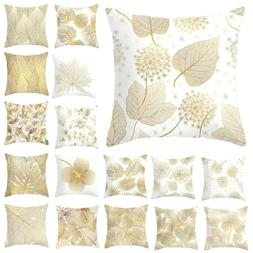 Leaves Print Cushion Cover Seat Sofa Waist Throw Pillow Case