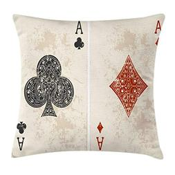 Ambesonne Lifestyle Decor Throw Pillow Cushion Cover by, Ace