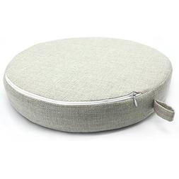 Linen Round Lounge Chair Cushion Pillow Car Sofa Deco Pillow