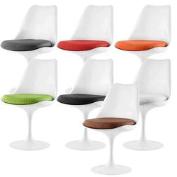 Lippa Modern Swivel 360 Dining Side Chair White ABS Plastic