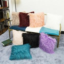 Long Wool Throw Pillow Cover Cushion Seat Sofa Case Home Bed