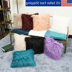 long wool throw pillow cover cushion seat