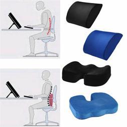 LOT Memory Foam Lumbar Pain Relief Chair Pillow Orthopedic C