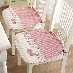 Lovely Flower Chair Seat Pads Thin Cotton Chair Mats for Din