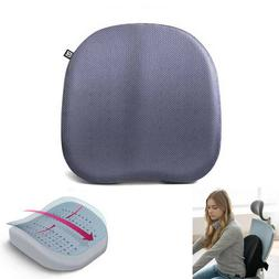 Lower Back Support Cushion Pillow Charcoal Foam Home Office