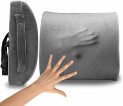 Lower Memory Foam Lumbar Back Support Pillow Cushion Home