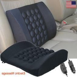 Lumbar Back Support Cushion Car Seat Electric Massage Memory
