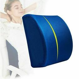 Lumbar Cushion Back Support Travel Pillow Foam Car Seat Home