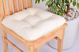 Lushness_Linen Presents 100% Cotton Chair Pad, Color Cream