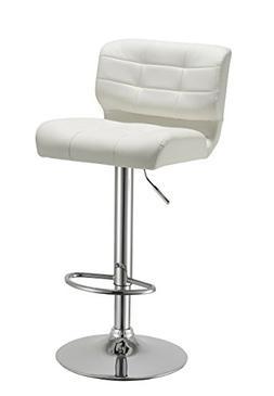 Duhome Luxury White Synthetic Leather Bar Stool Thick Cushio