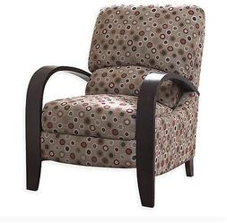 Madison Park Recliner Chair Bent Wood Arms Curved Cushioned