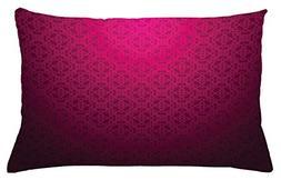 Lunarable Magenta Throw Pillow Cushion Cover, Antique Orname