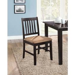 mainstays 6 pack dining chair set espresso