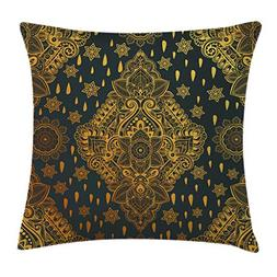 Ambesonne Mandala Throw Pillow Cushion Cover, Bohemian Paisl