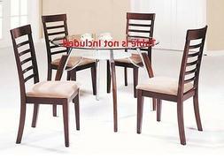 Martini Modern Cushion Seat High back Dining Chairs Brown Ch
