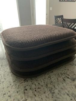 Memory Foam Chair Pads 4 Non Slip Back Chair/Seat Cushion Pa