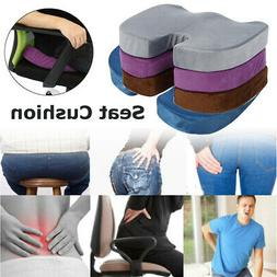US Memory Foam Cushion Pad Chair Lumbar Seat Pain Relief Pil