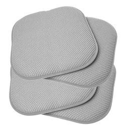 Sweet Home Collection Memory Foam Chair Cushion Honeycomb Pa